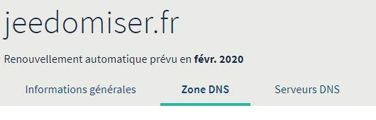 Accéder à l'onglet Zone DNS de l'espace client OVH