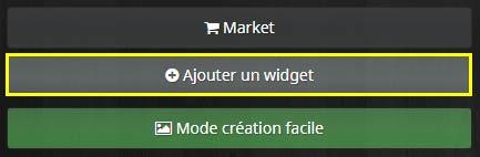 Comment accéder à la création d'un widget standard