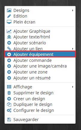 Comment ajouter un équipement dans un design