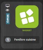 Comment choisir le widget créé