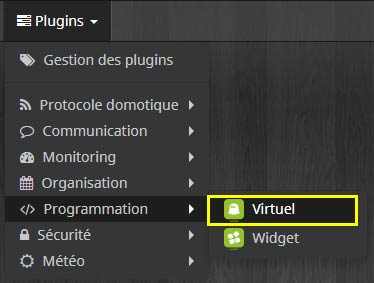 Comment choisir le plugin Virtuel