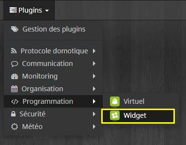 Comment choisir le plugin Widget