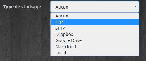 Choisir le type de stockage pour l'équipement CloudSync Pro