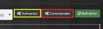 Lister les commandes et scénarios à inclure dans la Timeline