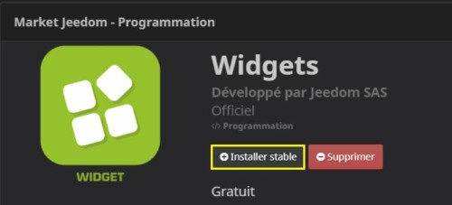 Comment installer le plugin Widget