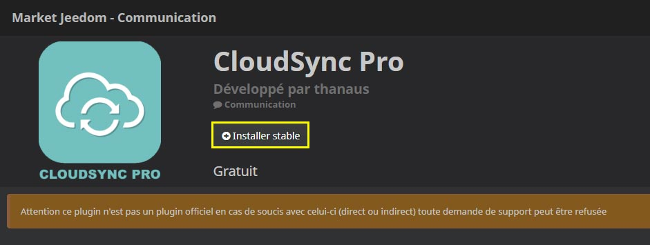 Comment installer le plugin CloudSync Pro