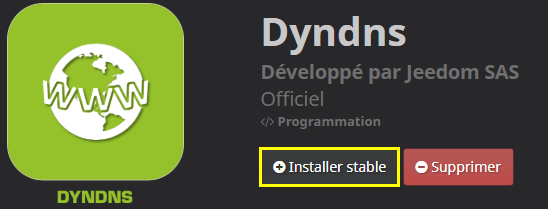 Comment installer le plugin DynDNS