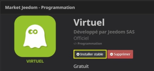 Comment installer le plugin Virtuel depuis le Market