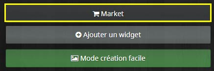 Comment accéder au Market de widgets
