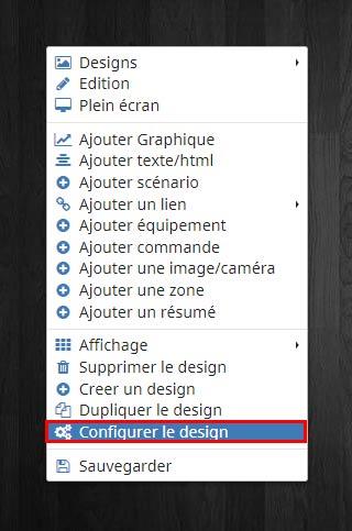 Comment accéder à la configuration du design