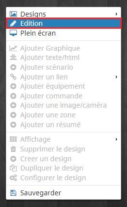 Comment passer en mode édition sur un design