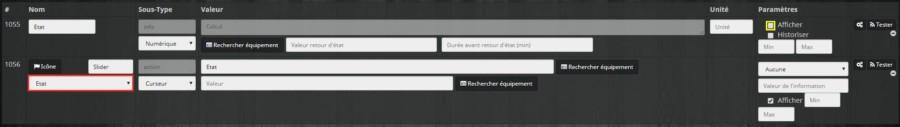 Comment terminer de créer des commandes virtuelles pour un virtuel pour un slider