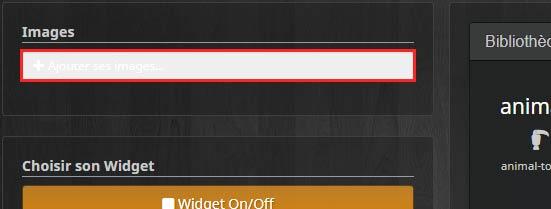 Comment uploader des images à la création d'un widget
