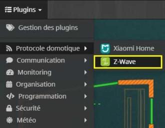 Accéder aux équipements Z-Wave