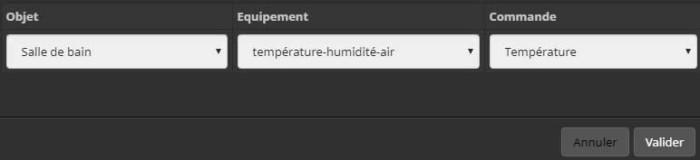 Ajouter la commande de température dans un design