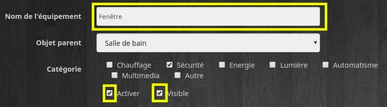 Configurer le détecteur d'ouverture de porte et fenêtre depuis le plugin Xiaomi de Jeedom