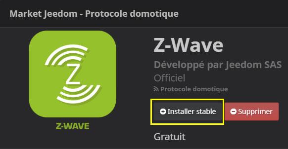 Installer le plugin Z-Wave