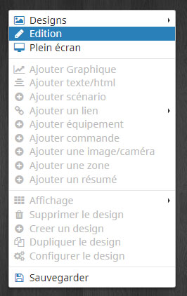 Passer en mode édition sur le design 2D Jeedom