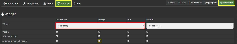Personnaliser la commande de température dans le design 2D de Jeedom
