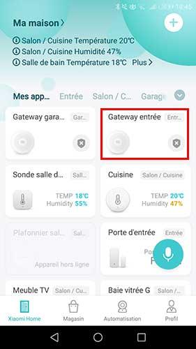 Choisir sa Gateway dans Mi Home