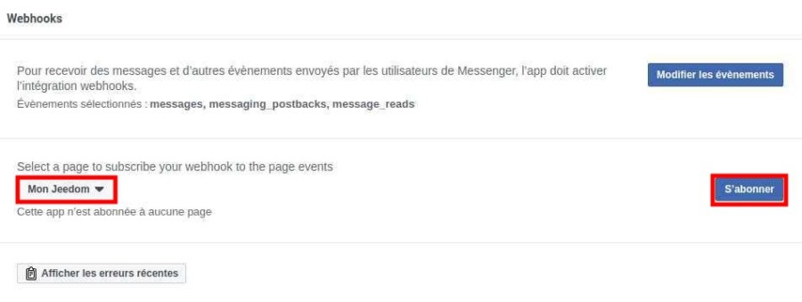 Abonner page Facebook à l'application Messenger