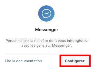 Ajouter un produit sur application créée Messenger