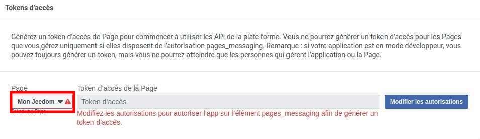 Associer page Facebook à l'application Messenger