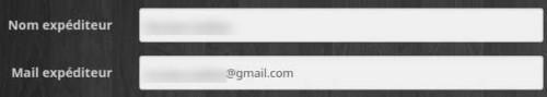 Configurer l'expéditeur de l'équipement du plugin E-mail