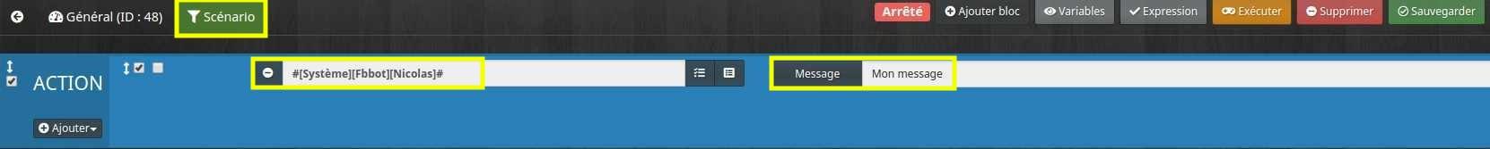 Envoyer un message avec Messenger depuis un scénario Jeedom