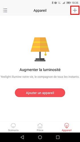 Intégration d'une ampoule dans l'application Yeelight