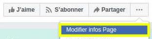 Modifier sa page Facebook pour en récupérer son ID