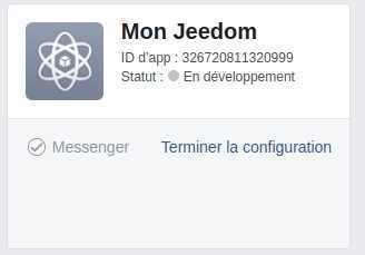 Sélectionner son application Messenger