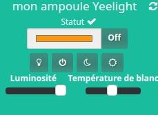 Visualiser l'ampoule Yeelight dans le dashboard de Jeedom