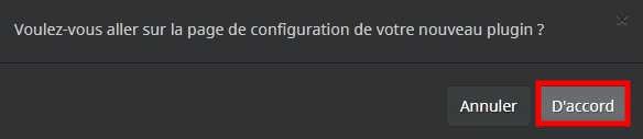 Accéder à la configuration du plugin