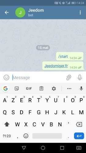 Envoyer un message au bot Telegram