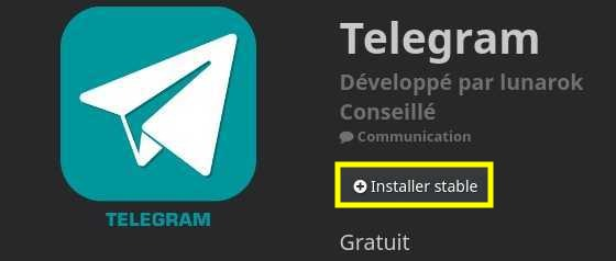 Installer le plugin Telegram dans Jeedom