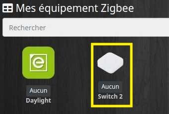 Choisir l'équipement ZigBee avec le plugin Deconz