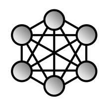 Schéma d'un réseau maillé comme le Z-Wave plus avec Jeedom