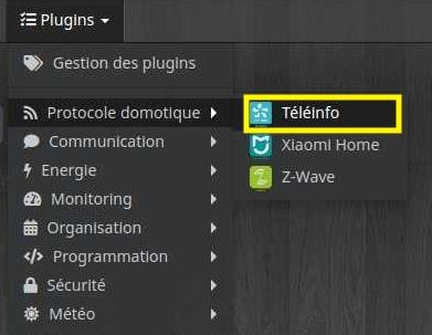 Accéder aux équipements du plugin Téléinfo avec Jeedom