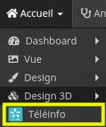 Afficher le panneau deskstop du plugin TéléInfo avec Jeedom