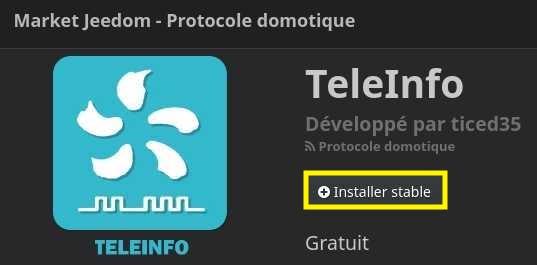 Installer le plugin TéléInfo avec Jeedom