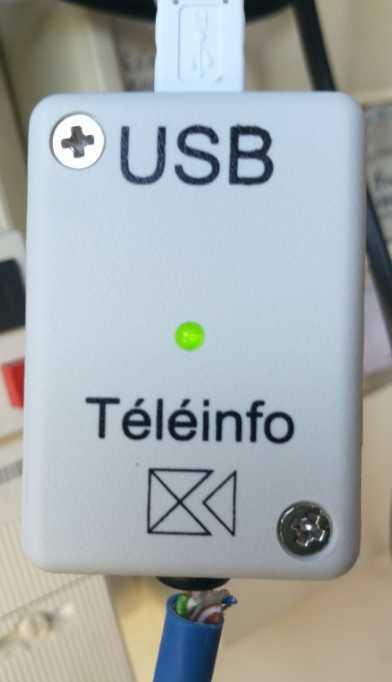 Let signalant état d'activité du module TéléInfo USB avec compteur Linky et Jeedom