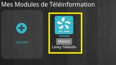 Sélectionner l'équipement Téléinfo du plugin avec Jeedom