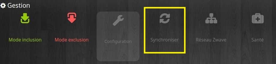 Synchroniser les équipements Z-Wave avec le plugin Jeedom