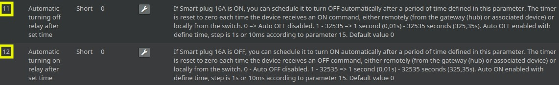 Définir la durée avant on/off automatique sur la prise connectée Z-Wave+ Qubino compatible Jeedom