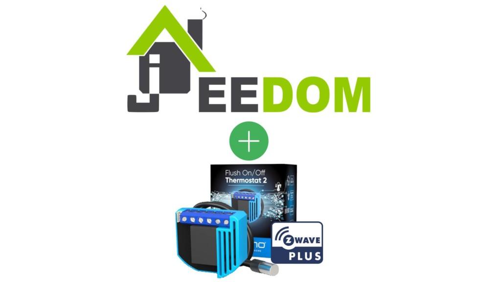 Thermostat On/Off encastrable de Qubino Z-Wave+ compatible avec Jeedom