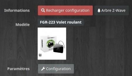 Création automatique de l'équipement Fibaro fgr-223 avec Jeedom et Z-Wave