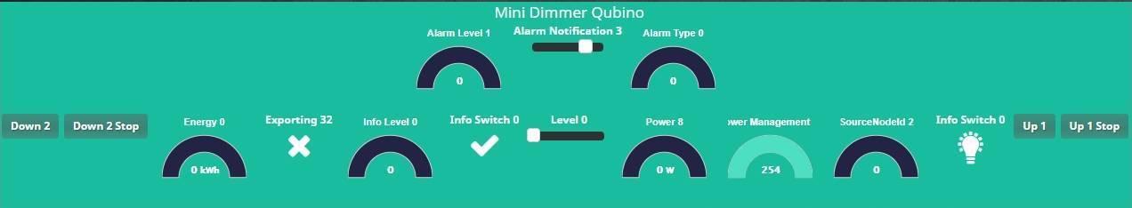 Retrouver le mini variateur encastrable Qubino dans le dashboard de Jeedom