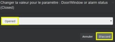 Inverser polarité de l'état d'ouverture pour le capteur d'ouverture porte fenêtre gen7 Z-Wave d'Aeotec