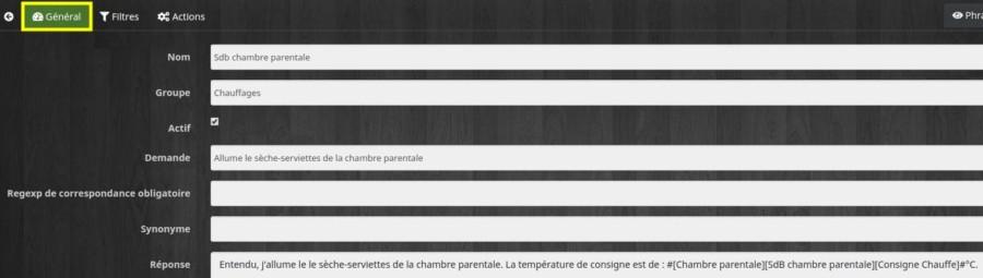 Personnaliser la demande d'allumage du chauffage via Messenger ou Telegram